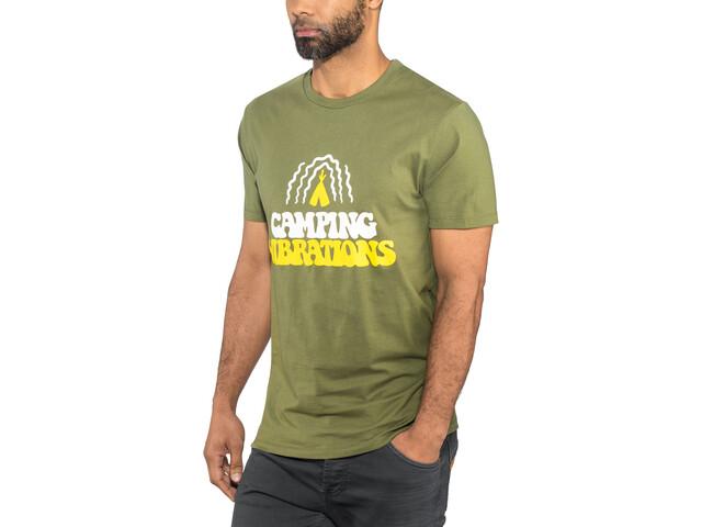 POLER Camping Vibrations Shortsleeve Shirt Men olive
